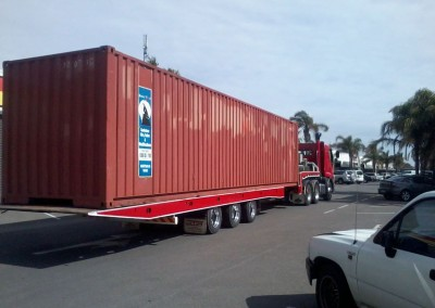 Dial-a-Tow picked up this shipping container from its depot for interstate transport to Sydney