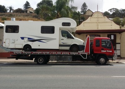 Transporting a motor home to a Perth family's new home in Melbourne