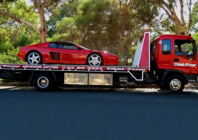 Towing a FERRARI - we provide prestige car towing services across Australia